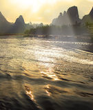 Mooi landschap Yangshuo in Guilin, China Royalty-vrije Stock Afbeelding