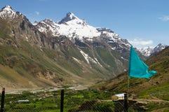 Mooi landschap in Zanskar, Noordelijk India Stock Foto