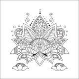 Mooi Lotus Ornament Vectoryoga Stock Afbeelding