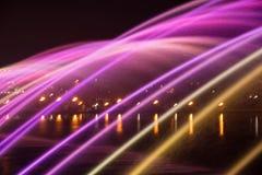 Mooi magisch abstract patroon van gekleurde straalfontein over Stock Afbeeldingen