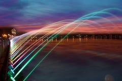 Mooi magisch abstract patroon van gekleurde straalfontein over Stock Afbeelding