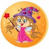 Mooi Magisch meisje Royalty-vrije Stock Afbeeldingen