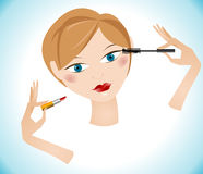 Mooi make-upmeisje Stock Afbeelding