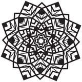 Mooi mandalapatroon in zwart-wit Royalty-vrije Stock Fotografie