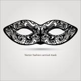 Mooi manier carnaval masker Hand getrokken vector Stock Afbeeldingen