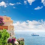 Mooi mediterraan landschap. Stock Afbeeldingen