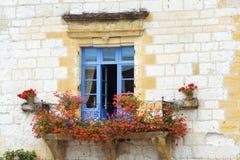 Mooi Mediterraan venster Stock Fotografie
