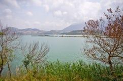 Mooi meer in Butrint, Albanië Royalty-vrije Stock Foto
