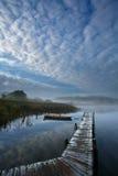 Mooi meer in Denemarken Stock Foto's