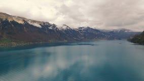 Mooi meer dichtbij bergen Stock Foto