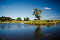 Mooi meer in Dyrehave-park, Denemarken Stock Foto's