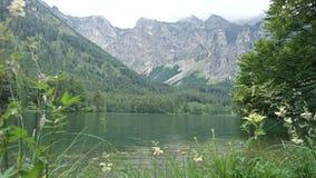 Mooi meer Hiterer Langbathsee in Oostenrijk royalty-vrije stock foto's