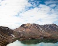 Mooi meer in IJsland bij trailhead Royalty-vrije Stock Foto