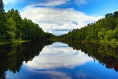 Mooi meer in Karelië Royalty-vrije Stock Foto's