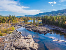 Mooi Meer in Noorwegen in de zomer Royalty-vrije Stock Afbeeldingen