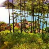 Mooi meer in Vietnam royalty-vrije stock fotografie