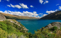 Mooi meer Wakatipu Stock Foto