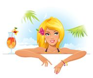 Mooi meisje stock illustratie