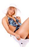 Mooi meisje in bikini stock foto