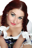 Mooi Meisje dat een Duitse Dirndl draagt Royalty-vrije Stock Afbeelding