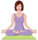 Mooi meisje dat Yoga doet Stock Foto's