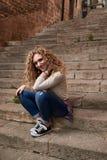 Mooi Meisje in de Oude Stad royalty-vrije stock foto's
