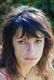 Mooi meisje die droevige ogen pruilen Royalty-vrije Stock Foto
