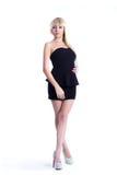 Mooi meisje in een donkere kleding Royalty-vrije Stock Fotografie