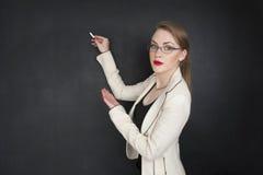 Mooi meisje in elegante kleren voor zaken of het concept van de studentencollage Stock Afbeelding