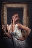 Mooi meisje en parfum Royalty-vrije Stock Fotografie