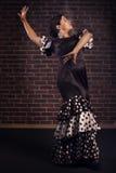Mooi meisje het dansen flamenco Royalty-vrije Stock Foto's