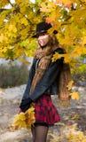 Mooi meisje in het park Stock Foto's
