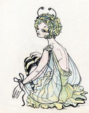 Mooi meisje in het sexy kostuum van de Vlinder Stock Afbeeldingen