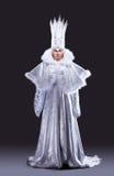 Mooi meisje in ijs koninginCarnaval kostuum Stock Foto's