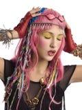 Mooi meisje in kostuum Japanse anime royalty-vrije stock foto's