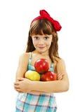 Mooi meisje met appel royalty-vrije stock foto's