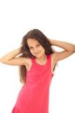 Mooi meisje met blauwe ogen Royalty-vrije Stock Foto