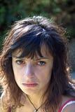 Mooi meisje met droevige ogen Royalty-vrije Stock Fotografie