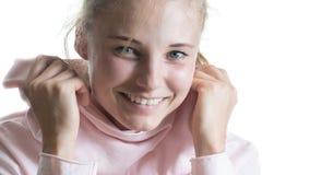 Mooi meisje met een glimlach Stock Foto