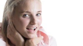 Mooi meisje met een glimlach Stock Foto's
