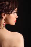 Mooi meisje met een litteken op gezicht en schouder Royalty-vrije Stock Afbeeldingen