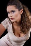 Mooi meisje met een poneystaart Stock Foto