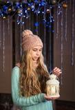 Mooi meisje met flitslicht Royalty-vrije Stock Foto's