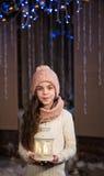 Mooi meisje met flitslicht Royalty-vrije Stock Foto