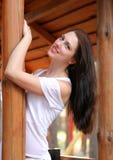 Mooi meisje met gezond haar Royalty-vrije Stock Foto's