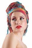 Mooi meisje met schone huid en make-up. Royalty-vrije Stock Foto's
