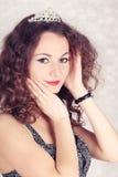 Mooi meisje met tiara Stock Fotografie