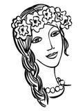 Mooi meisje Oekraïener stock illustratie