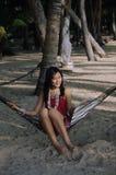 Mooi meisje op strand Royalty-vrije Stock Foto