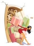 Mooi Meisje op Verkoop Stock Illustratie